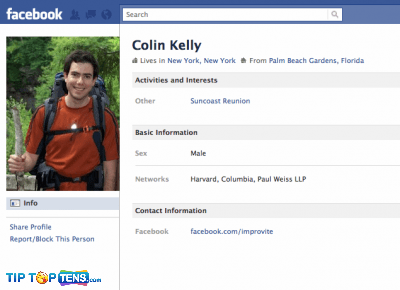 colin kelly 10 First People To Join The Facebook