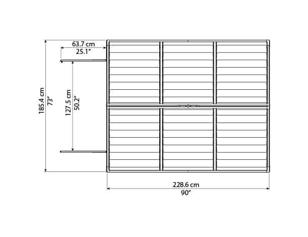 Skylight Storage Sheds 6x8 elevation