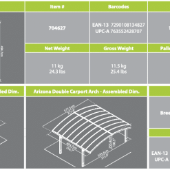 Arizona Carport EZ Link Kit