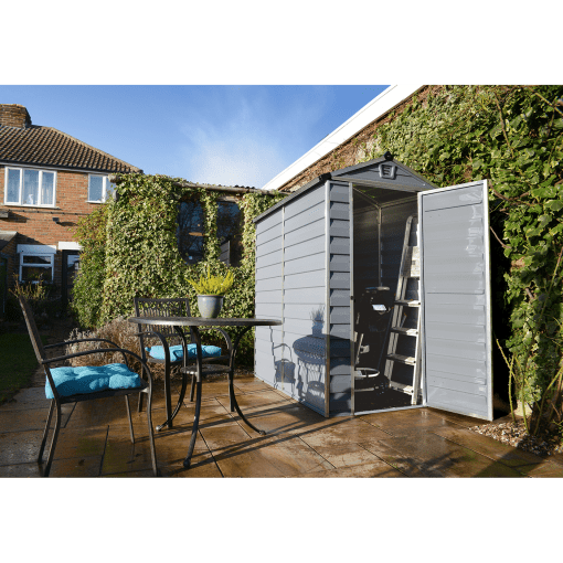 Skylight Storage Sheds 4x6 Grey 1