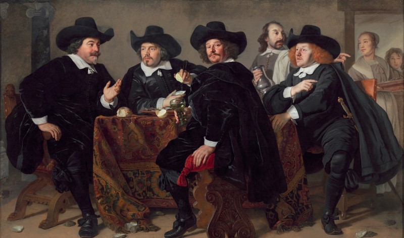A painting of well dressed gentleman at the Museo Nacional Thyssen-Bornemisza