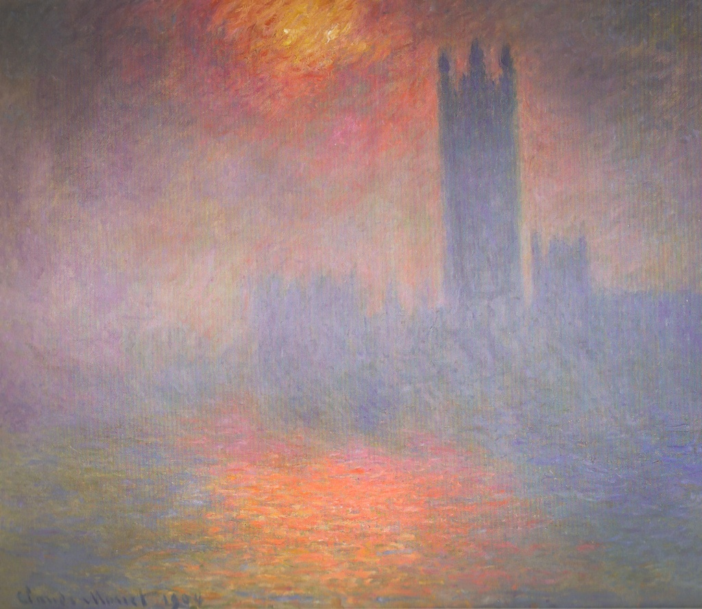 Claude Monet - London Houses of Parliament: The Sun Shining Through the Fog (Musée d'Orsay)