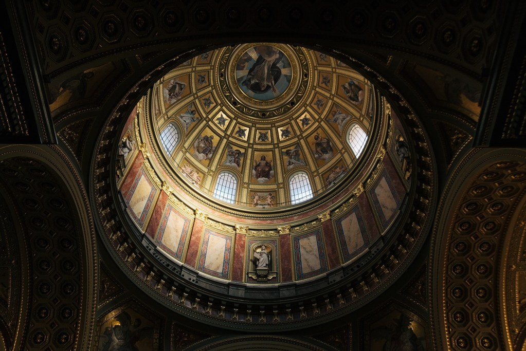 The dome of St Stephen's Basilica