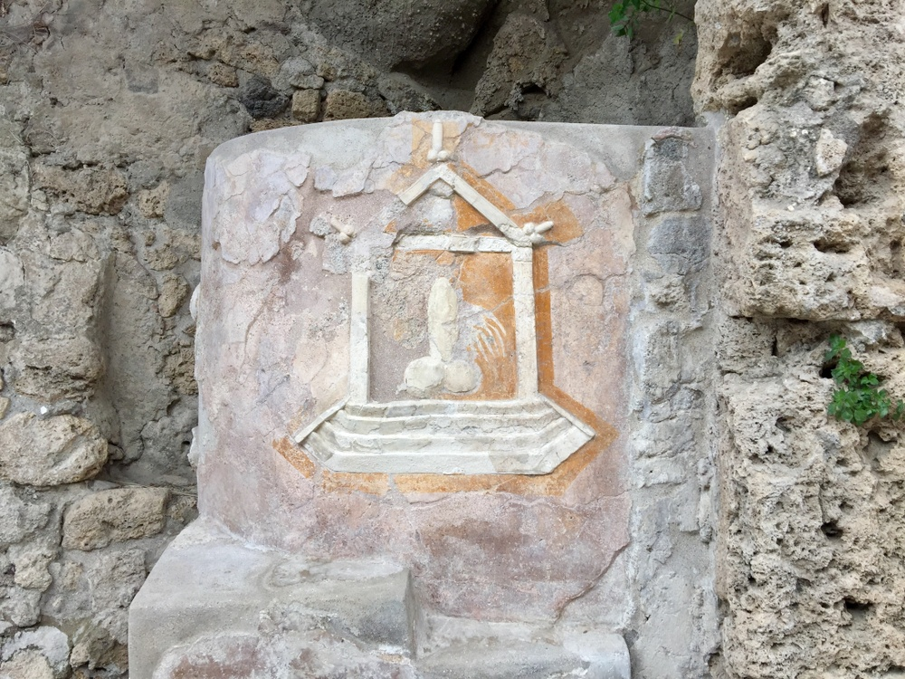 Just one example of the near-ubiquitous phallic imagery you'll see around Pompeii.