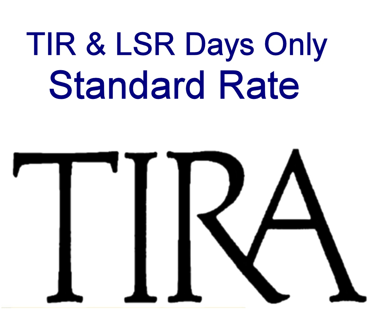 Std Rate: TIR & LSR Days