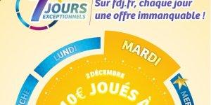 5 millions au loto pour une habitante de Marseille + promotions FDJ de décembre