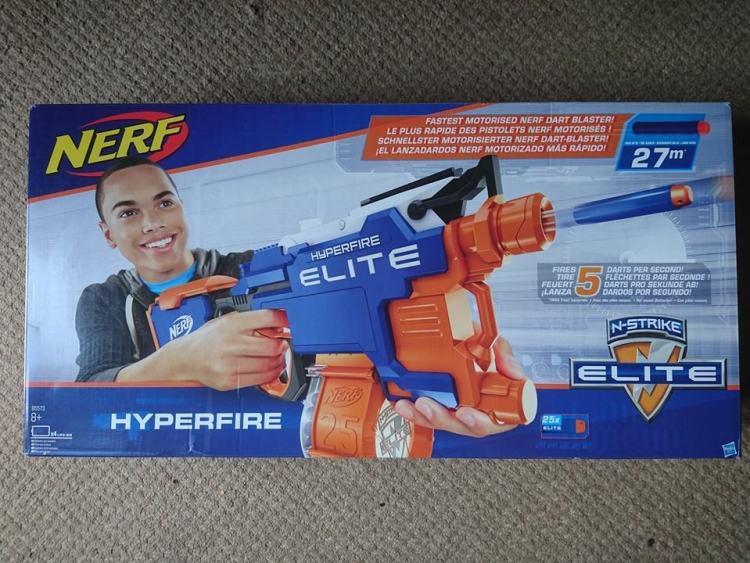 Nerf Hyperfire blaster box