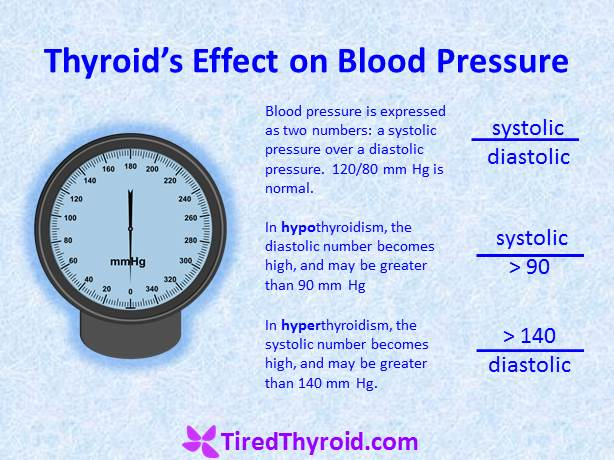 High Blood Pressure (Hypertension) is a symptom of both Hypothyroidism and Hyperthyroidism