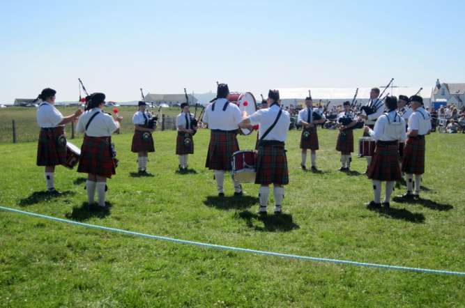 Tiree Pipe Band at 2013 Agricultural Show