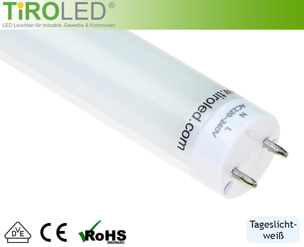 LED-Röhre mit 130 Lumen / Watt