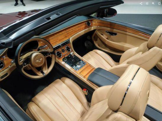 El espectacular interior del Bentley Continental GT
