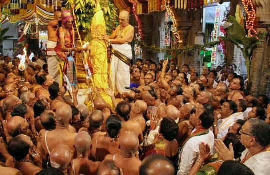 Dhwajarohanam In Tirumala Bramotsavams,2014