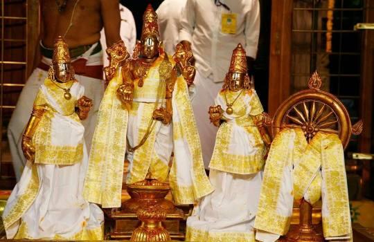 Lord Sri Venkateswara On His Appearence Day on 4th Octeober,2014 The Last Day Of Tirumala Brahmotsavams,2014