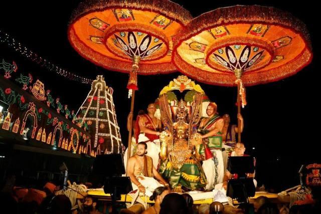Lord Venateswara On Garuda Vahanam During Tirumala Brahmotsavams