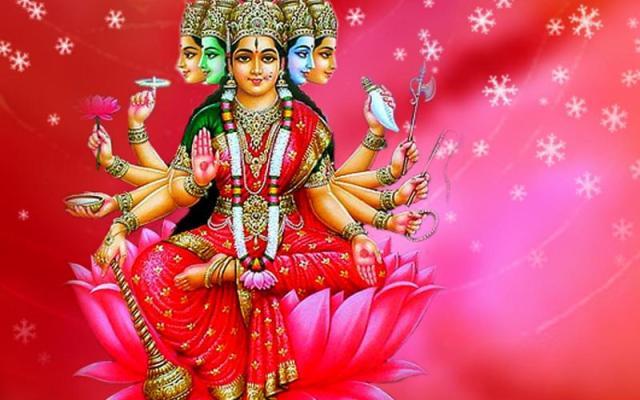 Hindu Goddess Gayathri