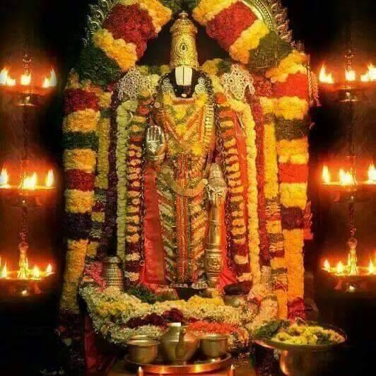 Lord Sri Venkateswara In His Celestial Abode