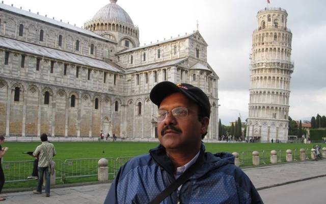 Sriram Sir At The Leaning Tower Of Pisa