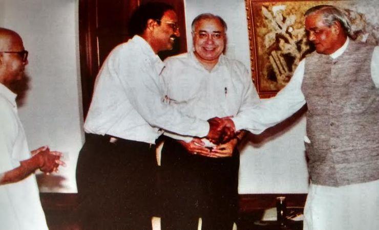 Sriram Sir With Prime Minister Atal Behari Vajpayee