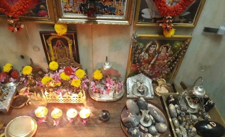 Ghee Lamps In Vijaya's House