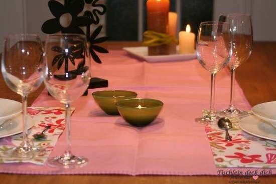 Tischläufer rosa der schwedischen Fa. Klippan