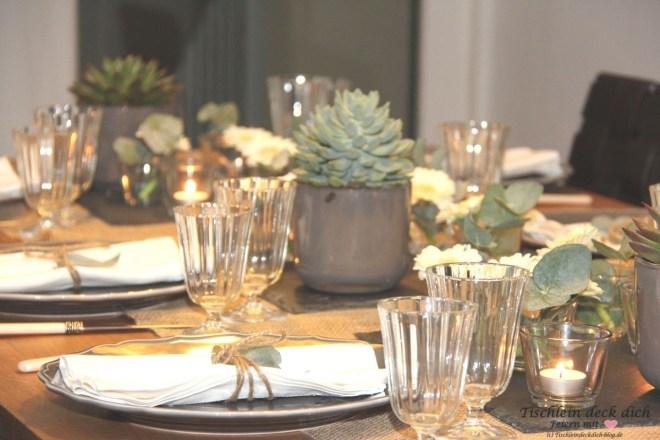 Tischdeko und ein schwäbischer Abend
