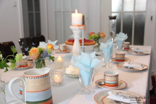 Geburtstag im Mai Tischdekoration