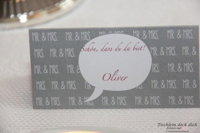Standesamtliche Hochzeit Tischkarte