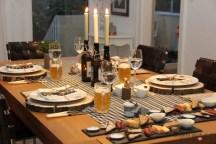 Rustikale Tischdekoration