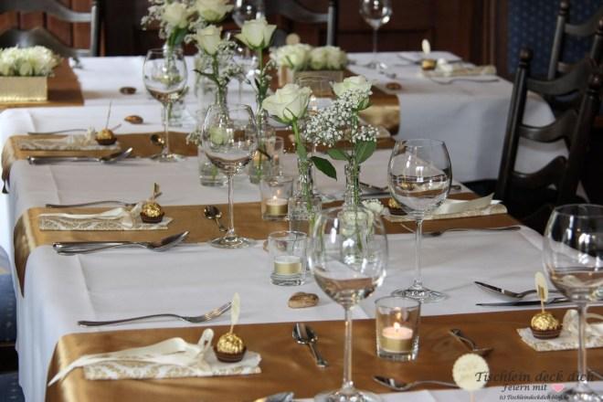 Goldhochzeit-Tischdeko Gimbte