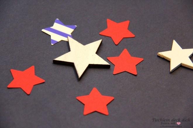 USA Wahlparty Tischdeko Stars and Stripes Sternchen