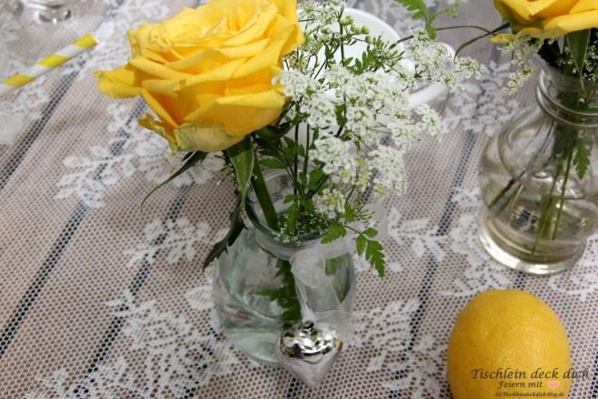 Zitronenfest Tischdekoration