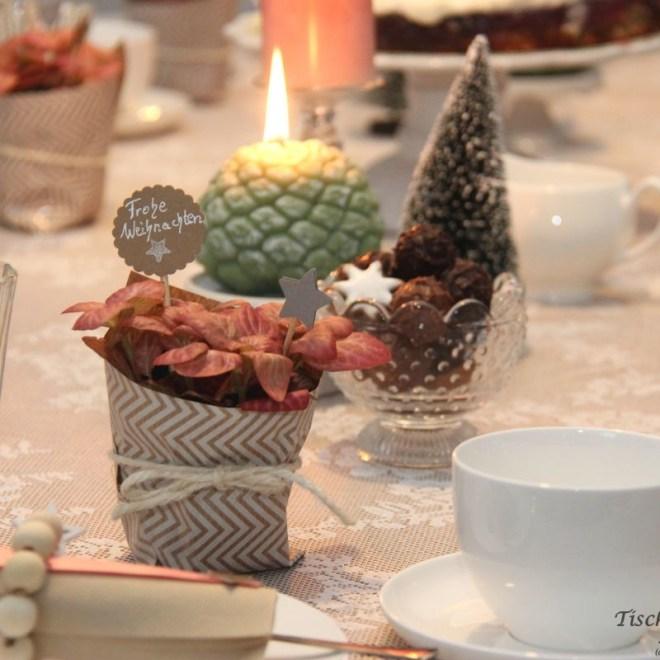 apricot weihnachtliche Tischdeko