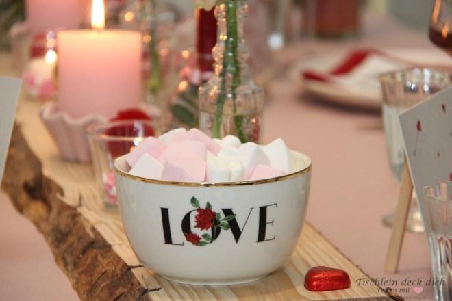 Porzellanschale LOVE zum Valentinstag