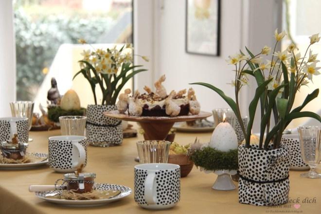 Eierlikoer Tischdeko Ostern