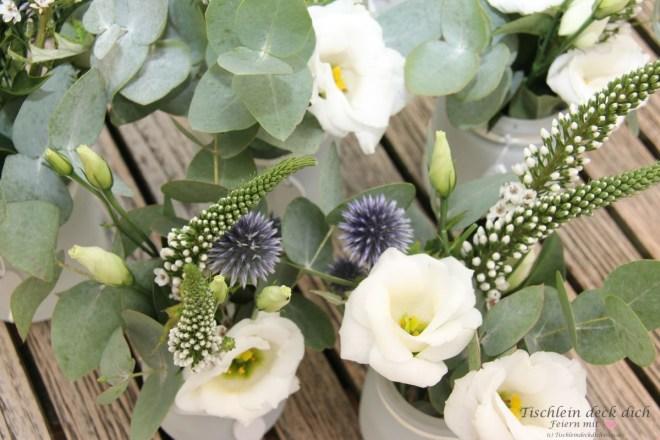 Blumendeko für die Kommunionsfeier