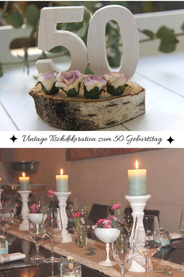 Vintage Tischdekoration Zum 50 Geburtstag Tischlein Deck Dich