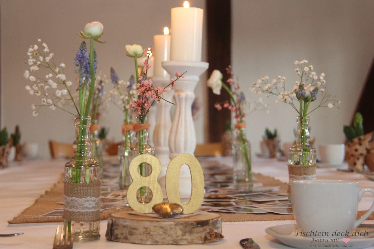 Tischdekoration Zum 80. Geburtstag