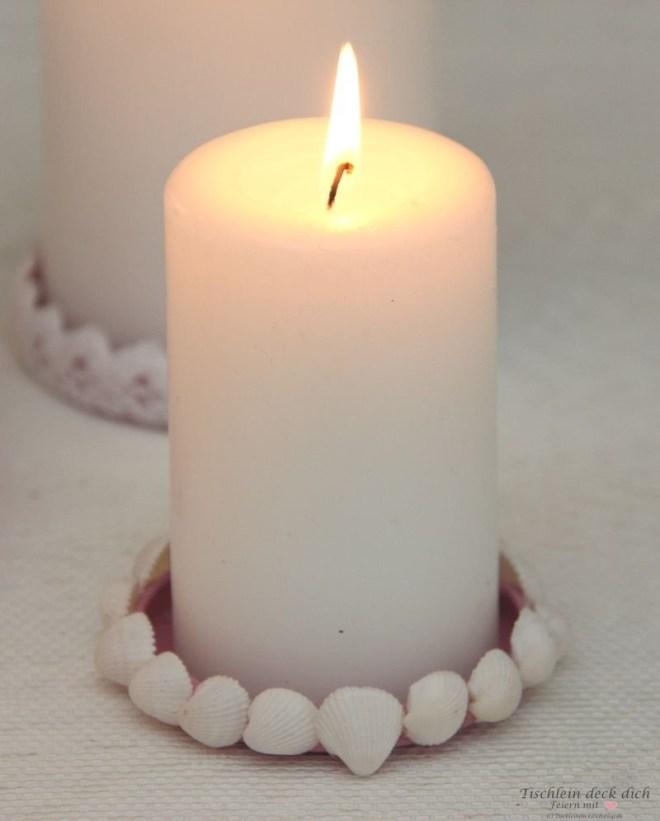 Kerzenuntersetzer basteln