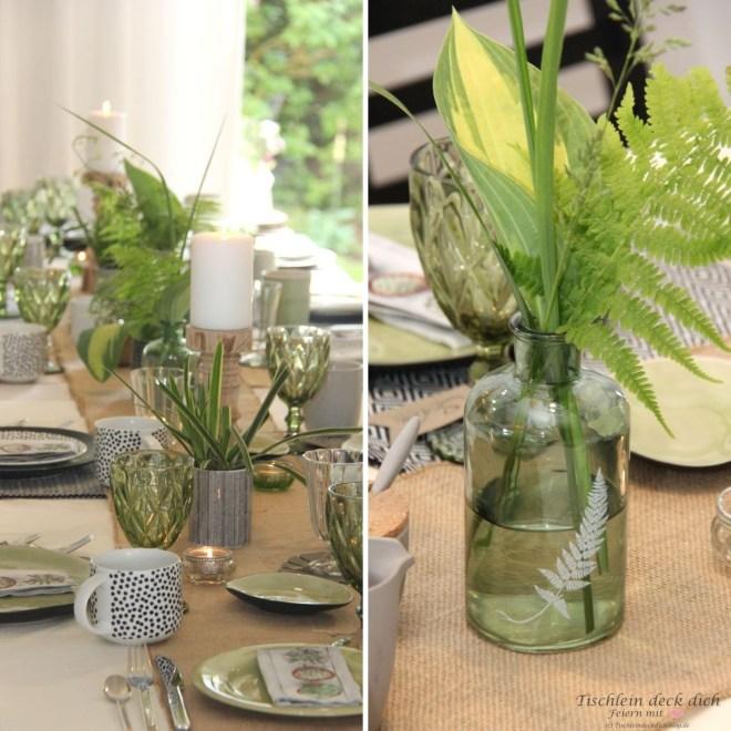 Tischdekoration im Botanical Style
