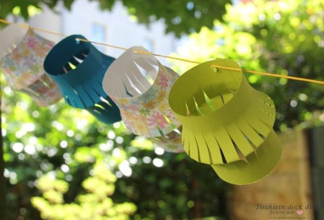 Mittsommer Girlande für den Garten DIY