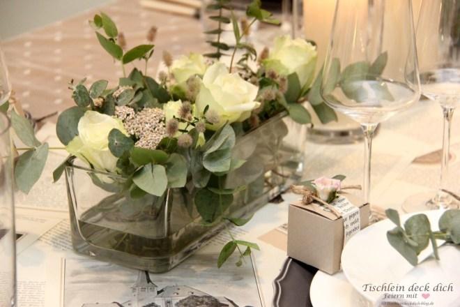 Blumenschmuck für eine nachhaltige Hochzeitsdekoration