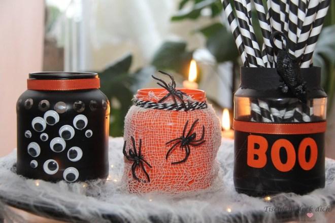 Halloween Gläser DIY