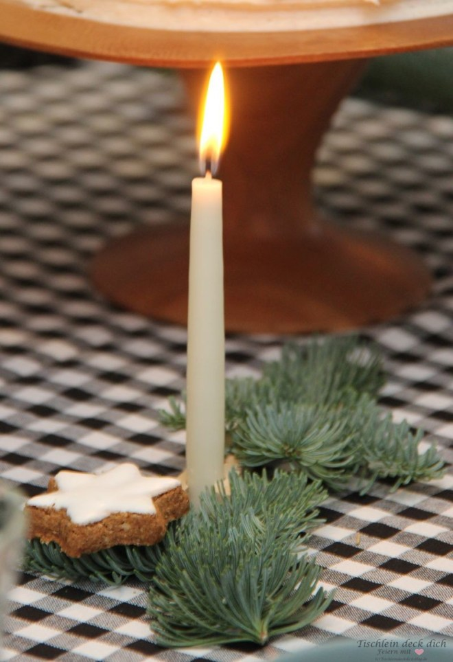 Kerzendeko mit Holzwäscheklammer