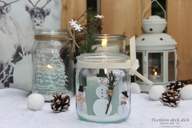 Kreativ Freitag No 3 Gläser Winterlich Dekorieren