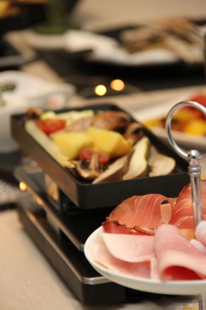 Tischdekoidee für den Racletteabend