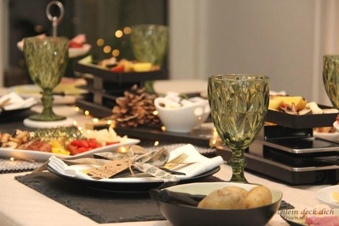Raclette Ideen Tischdekoration