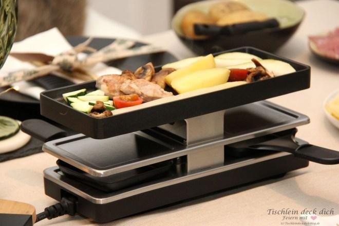 Racletteabend Tischdekoration
