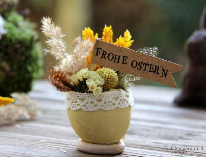 Oster-DIY mit Trockenblumen