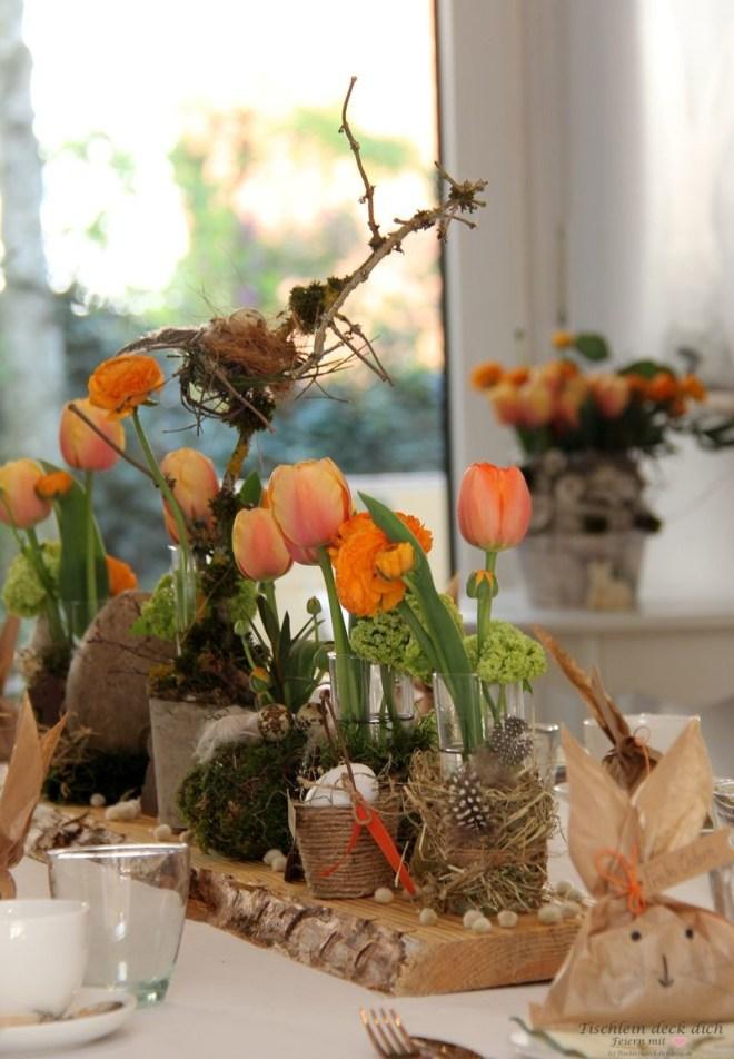 Oster-Tischlein deck dich, Tischdekoration Ostern