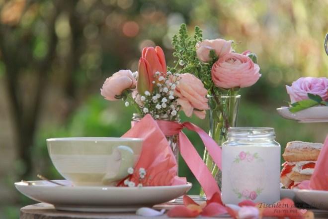 Tischdekoration zum Muttertag